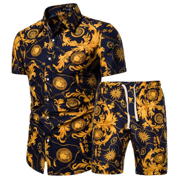 Men's Clothing s 2 Piece Fashion Casual Beach Wear Clothes