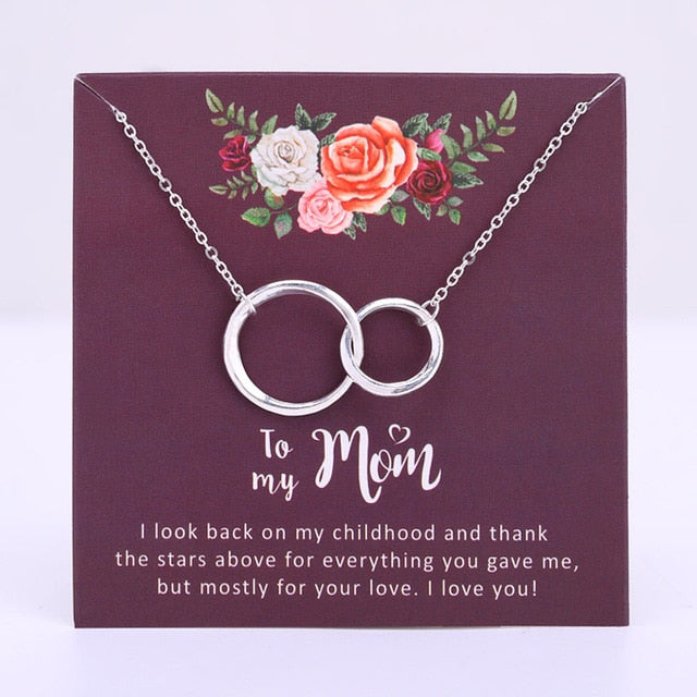 Mother and Daughter Necklace Heart Love Jewelry - A Set