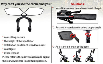 EasyDo Bicycle Rear View Mirror