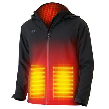 USB Rechargeable Heated Jacket Front and Back Temperature Adjustable
