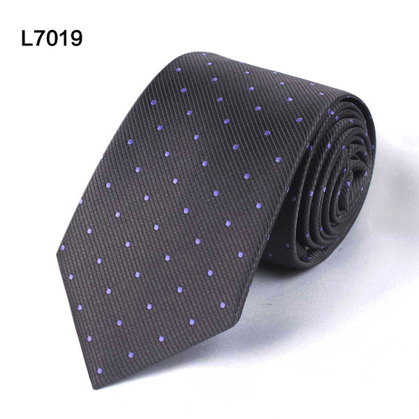 Dotted Necktie - Black, Grey, Dark Blue