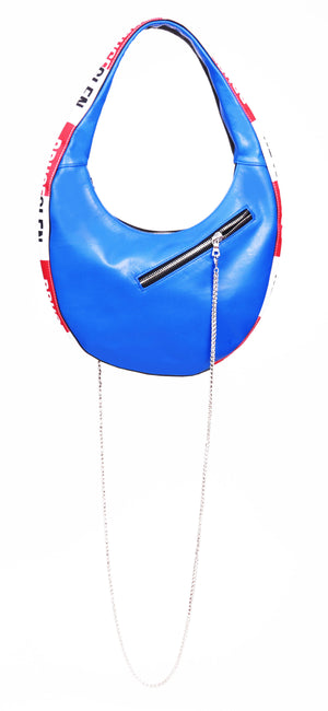 'Logo' Egg Bag in Blue