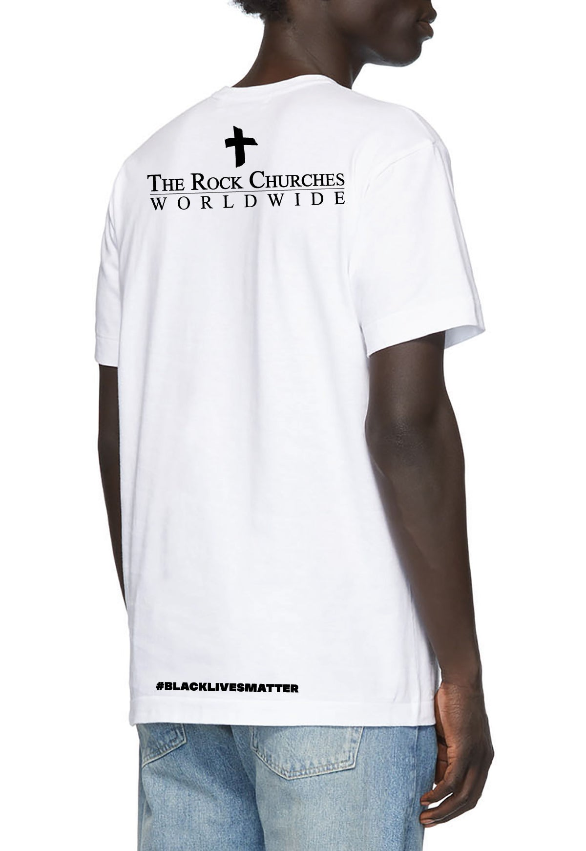 #BLM Rock Prayer Walk T-Shirt in White (Shipped After the Walk)