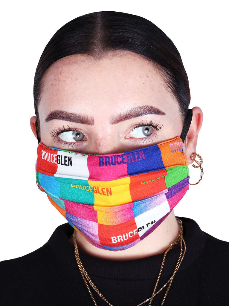 Happy Pleated Knit Mask - 5 Pack