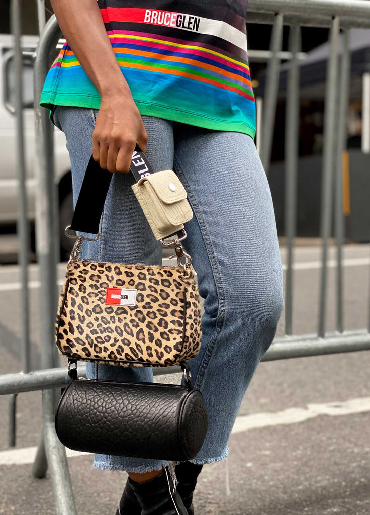 """TOO MUCH"" Tiered Bag in Wild Cat"