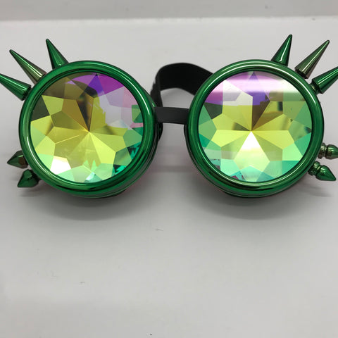 Watermelon Kaleidoscope Spiked Goggles