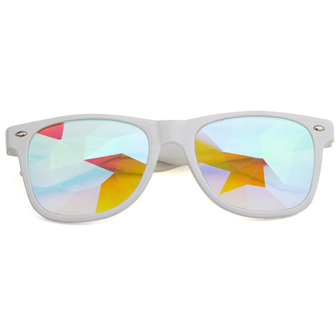 White Rave Glasses