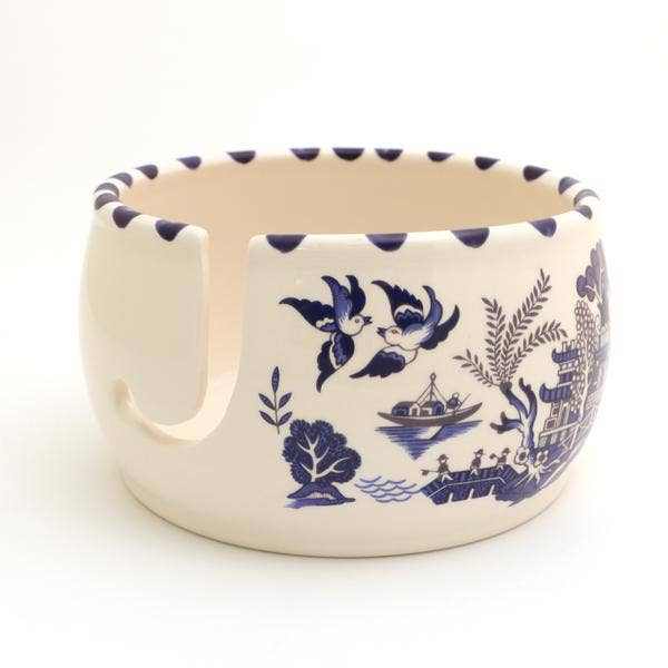 Blue Willow Yarn Bowl, Chinoiserie