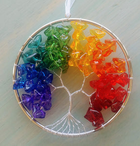 Crystal Expressions Rainbow Tree of Life Ornament