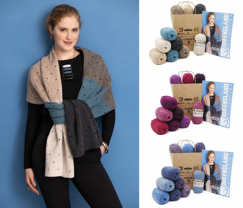 KFI Drop Kit: Renee Scarf in Walkabout Organic Shetland Wool