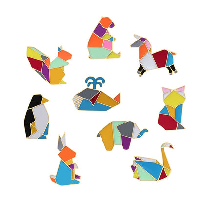 Origami Animal Brooches - Save The Whale!