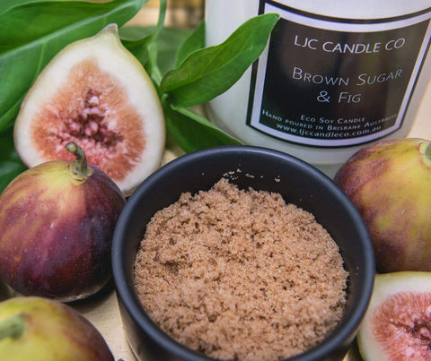 LJC Candle Co | Medium Brown Sugar & Fig Soy Candle