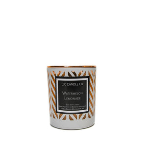 LJC Candle Co | Luxury white chevron wooden wick soy candles with rose gold lids | Handmade in Brisbane