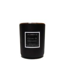 LJC Candle Co | Large black wooden wick soy candle with rose gold lid | Handmade in Brisbane