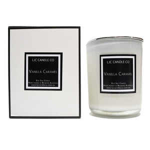 LJC Candle Co | Large white wooden wick soy candle with silver lid | Handmade in Brisbane