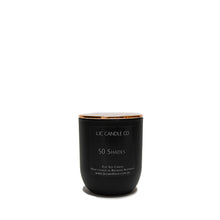 LJC Candle Co | Small black luxurious wooden wick soy candle with rose gold lid | Handmade in Brisbane