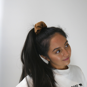 Autumn Days ~ Burnt Caramel Colour Scrunchie