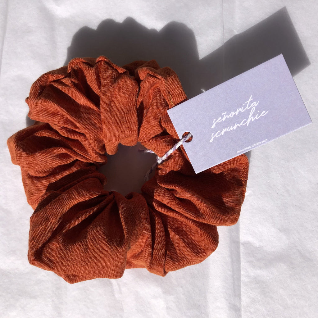 Holy Paprika ~ Linen Scrunchie in Clay