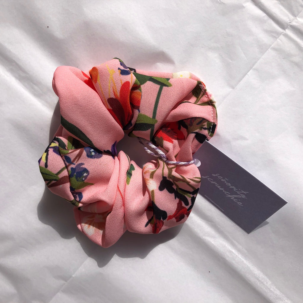 Floral crepe scrunchie | Made in Australia by Señorita Scrunchie