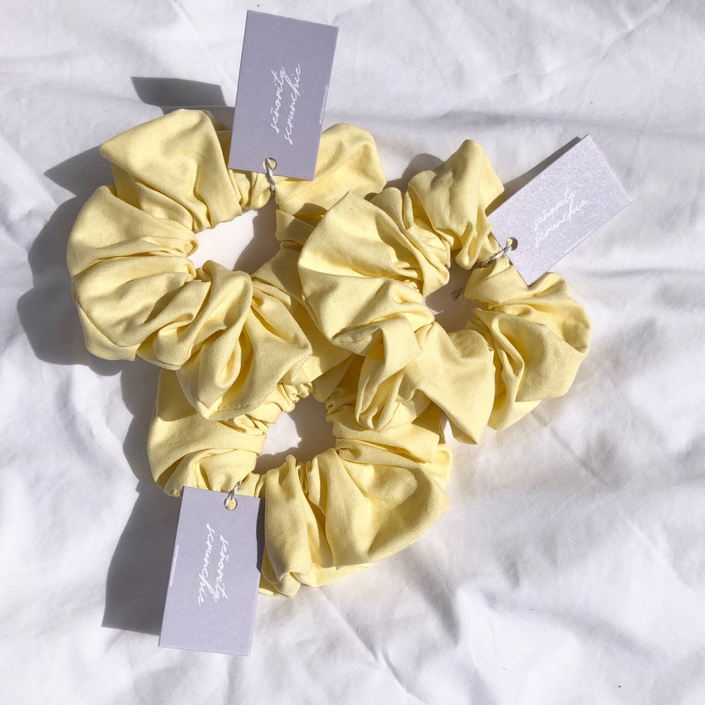 Lemon Yellow Scrunchie - Limoncello | Handmade Scrunchies Australia