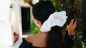 Homage To The Old World ~ Ivory Oversized Scrunchie