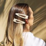 Pearl Hair Clips in Balayage Hair