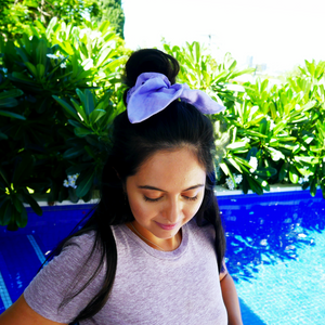 Remembering Viola ~ Violet Bow-Scrunchie