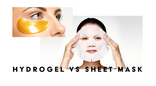 What's the difference? Hydrogel Mask Vs. Sheet Mask