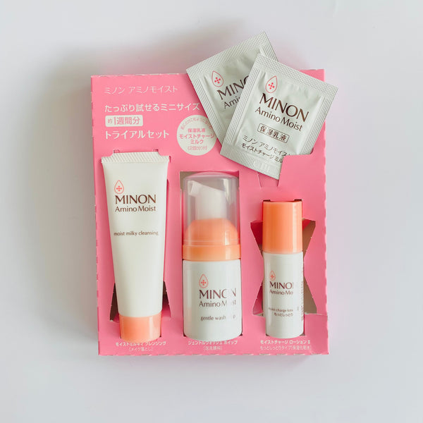 minon amino moist travel set
