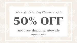 Up to 50% off during SUMMER CLEARANCE!