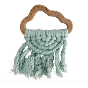 Chewable Charm Babies & Kids Organic Cloud Macrame Teether