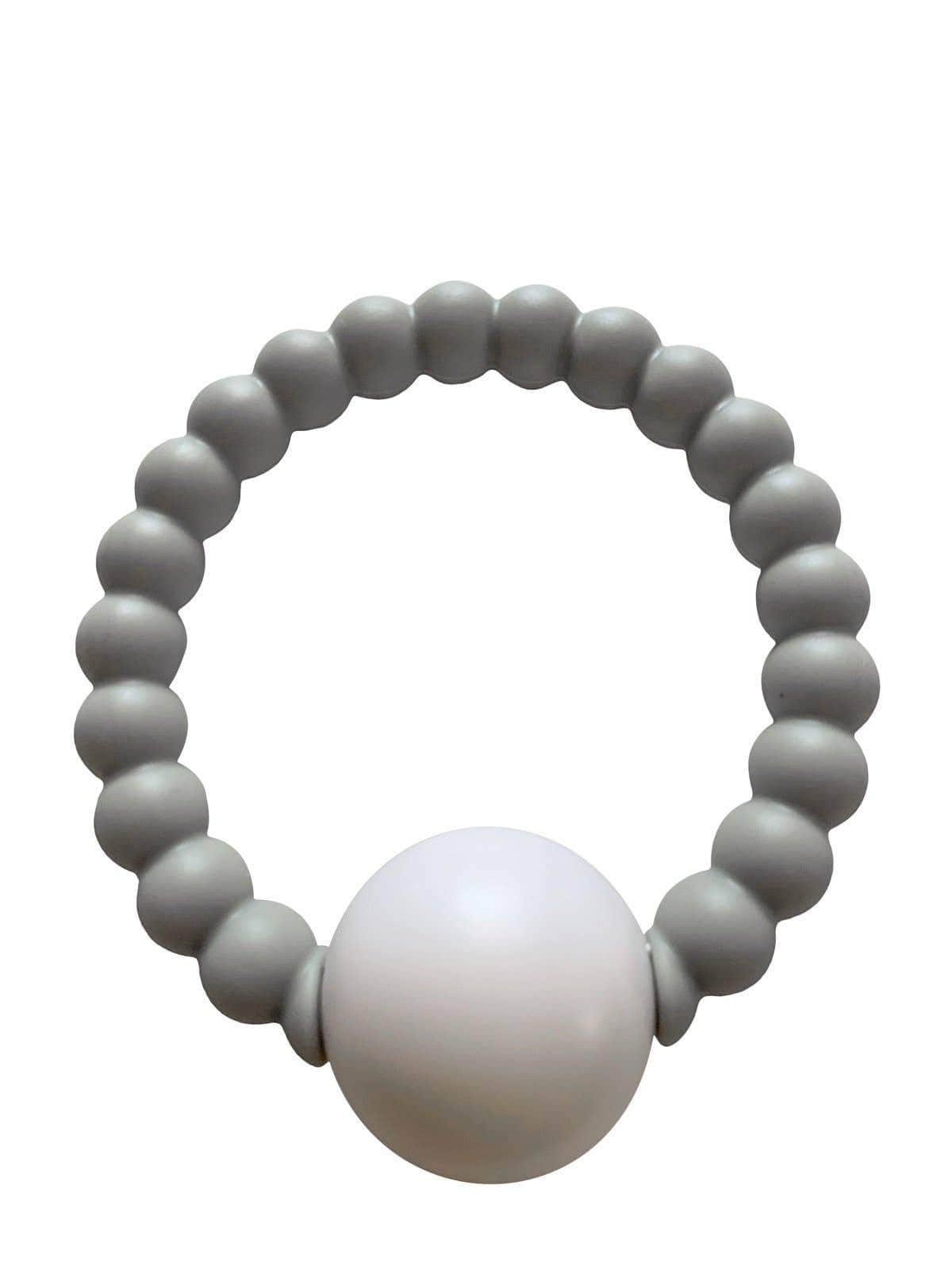 Chewable Charm Teether Toy Rattle - Grey CCR191