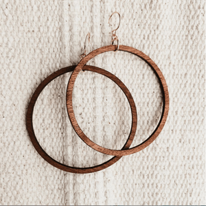 Company Kind Earrings Beach Party Wood Hoop Earrings