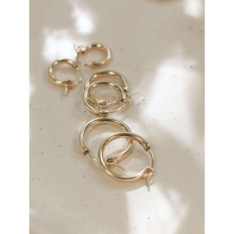 Company Kind Earrings Everyday 14kt Gold Hoops