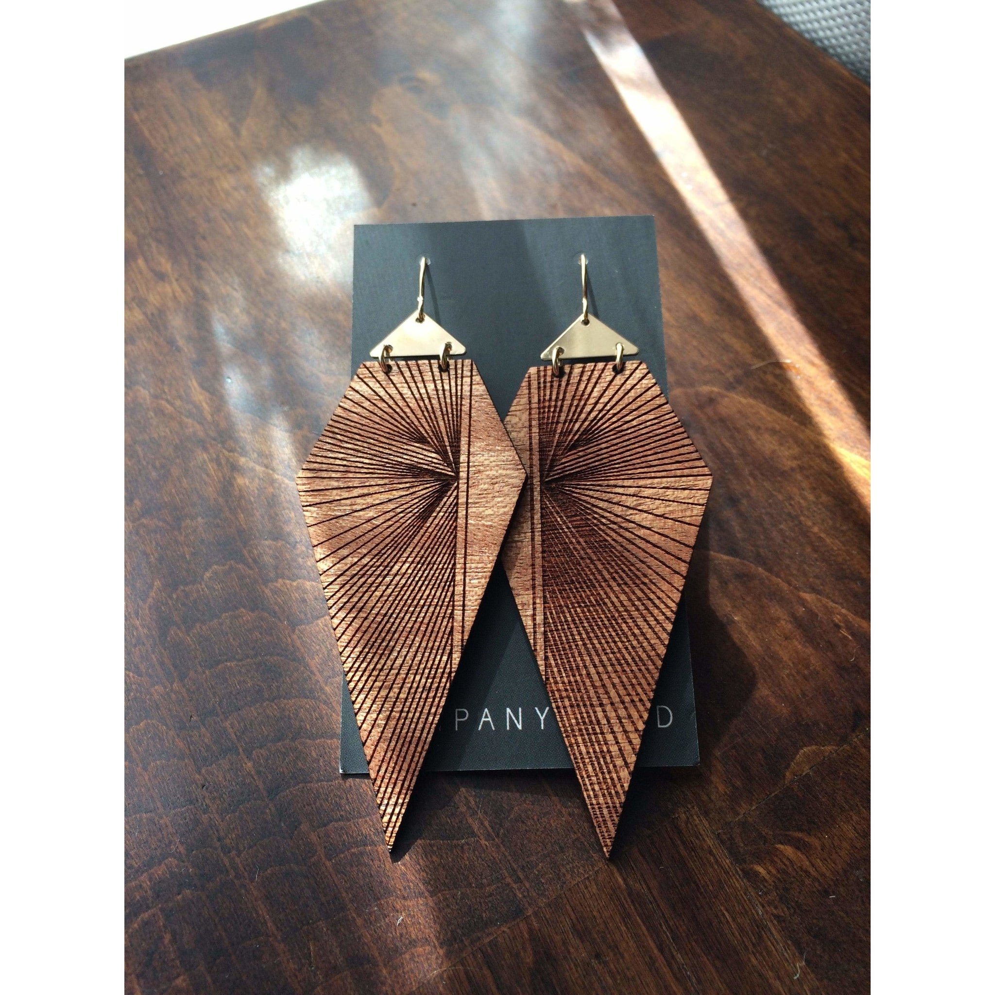 Company Kind Earrings Prism Wood Earrings