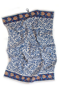 From, Mila Kitchen and Dining Estela Block Print Kitchen Towel