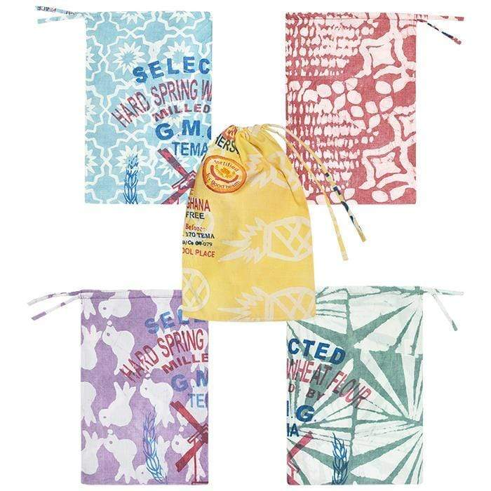 Global Mamas Fair trade reusable zero waste gift produce bags (random color)