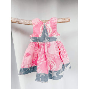 Global Mamas Girls Mix Match Twirl Dress | Light Pink + Blue
