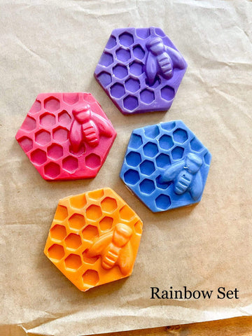 Harrison's Imagination Wax Rainbow Set (4 colors) All Natural, Dye and Paraffin Free, Waldorf Inspired Beeswax Modeling Wax by Harrison's Imagination Wax