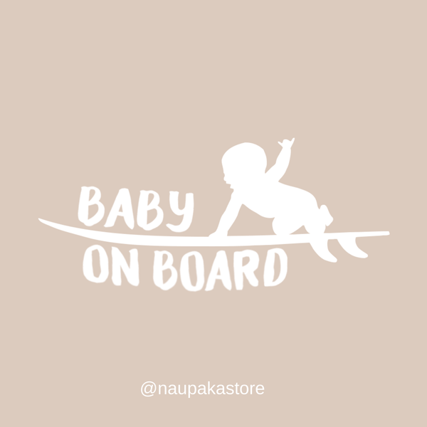 Naupaka Baby/Keiki On Board Sticker Decal