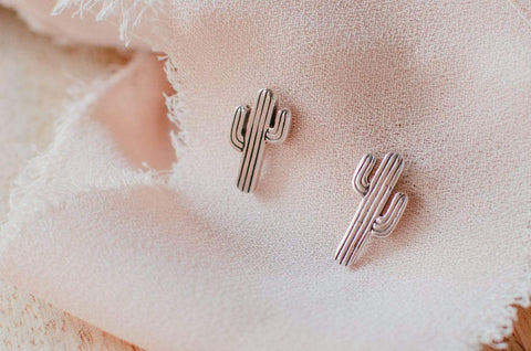 Naupaka Jewelry Cactus Stud Earrings