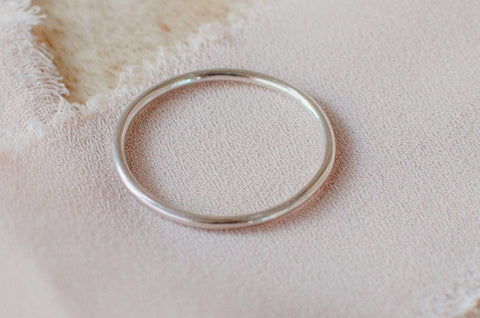 Naupaka Jewelry Dainty Sterling Silver Stacking Ring