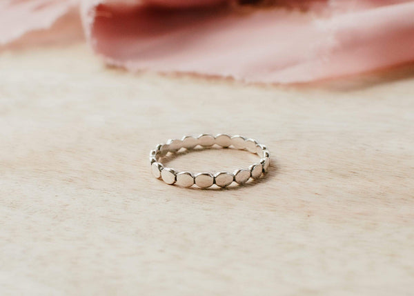 Naupaka Jewelry Sterling Silver Bubble Stacking Ring
