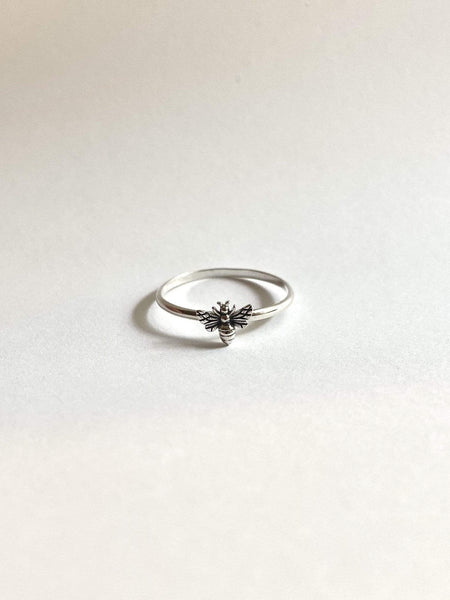 Naupaka Jewelry Tiny Bee Ring in Sterling Silver Ethically made Anthropologie Style
