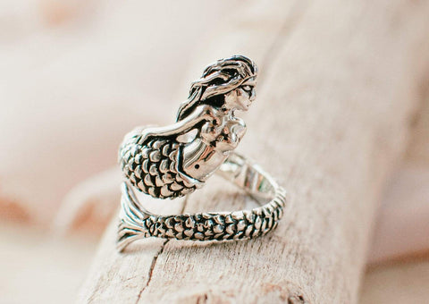 Naupaka Rings Adjustable Mermaid Ring- 925 Sterling Silver