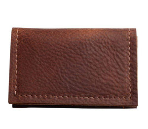 Repurposed on Purpose Mens Slim Leather Wallet in Cognac