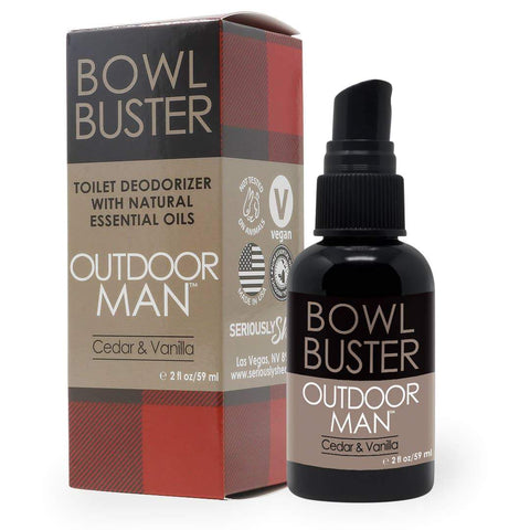Seriously Shea Outdoor Man Bowl Buster | Deodorizing Toilet Spray for Men BB_OMA