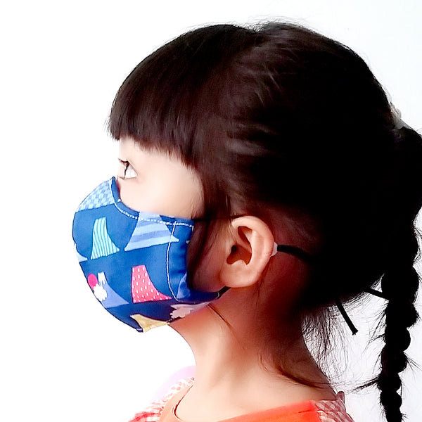 Face Mask (Pocket Insert) KIDS SIZE - Mount Fuji I (Blue)