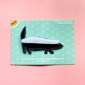 Felt Pin Brooch - Honey Badger