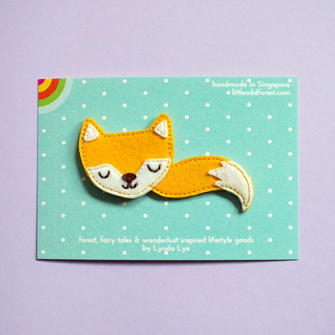 Felt Pin Brooch - Fantastic Fox (Sunshine)